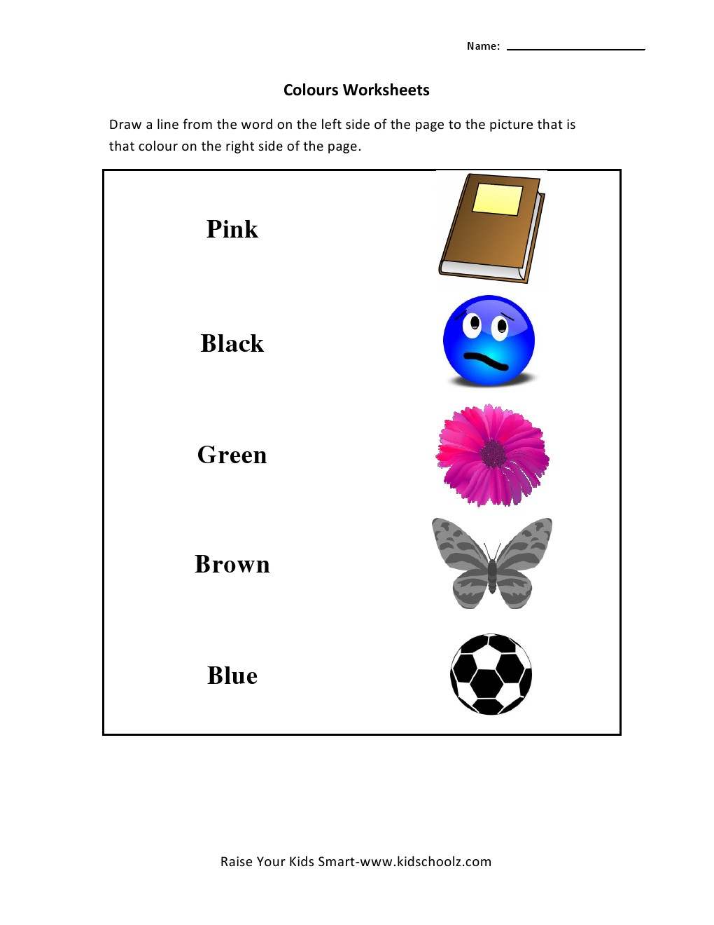 Colours Matching Worksheet -