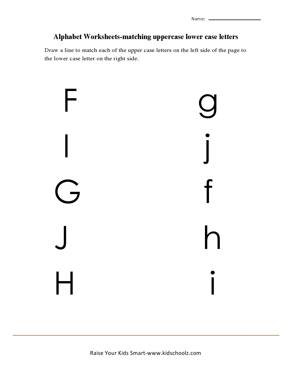 worksheet Matching Letters Worksheets uppercase to lowercase alphabets matching f h download
