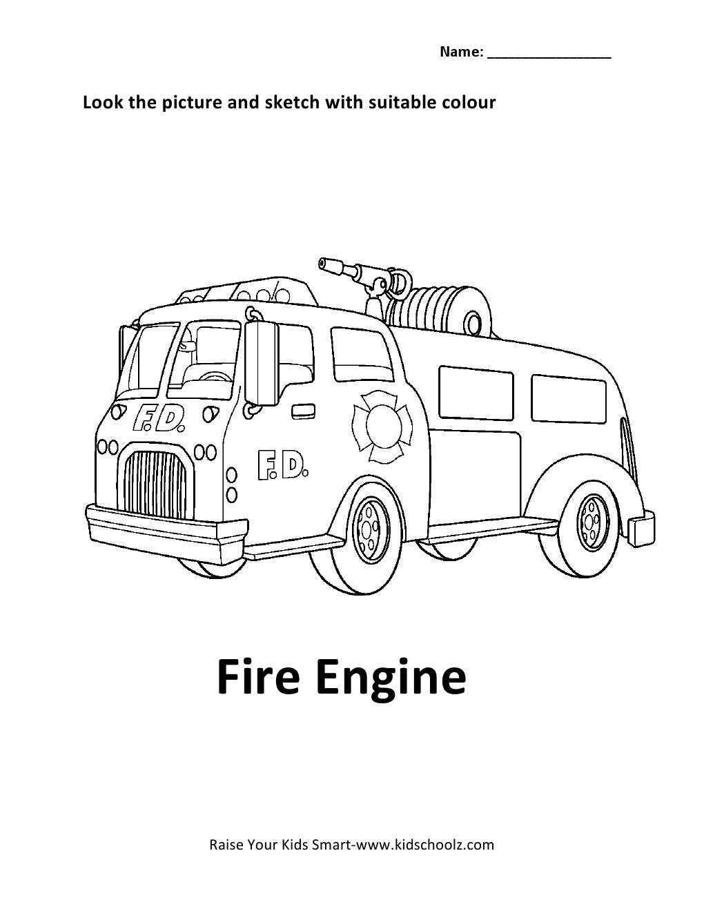 emergency vehicles coloring pages - photo #34