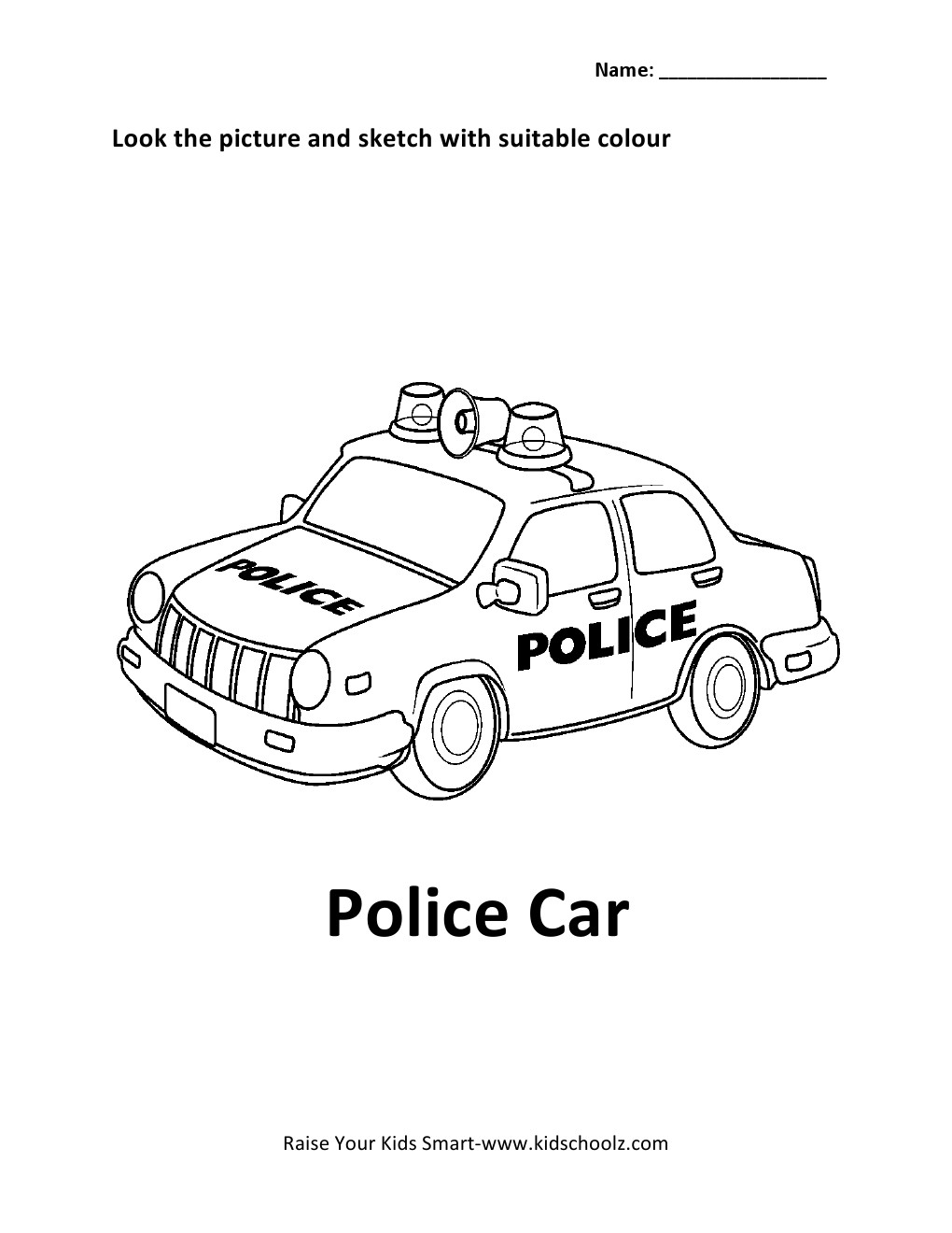 Free coloring pages of dodge charger police car