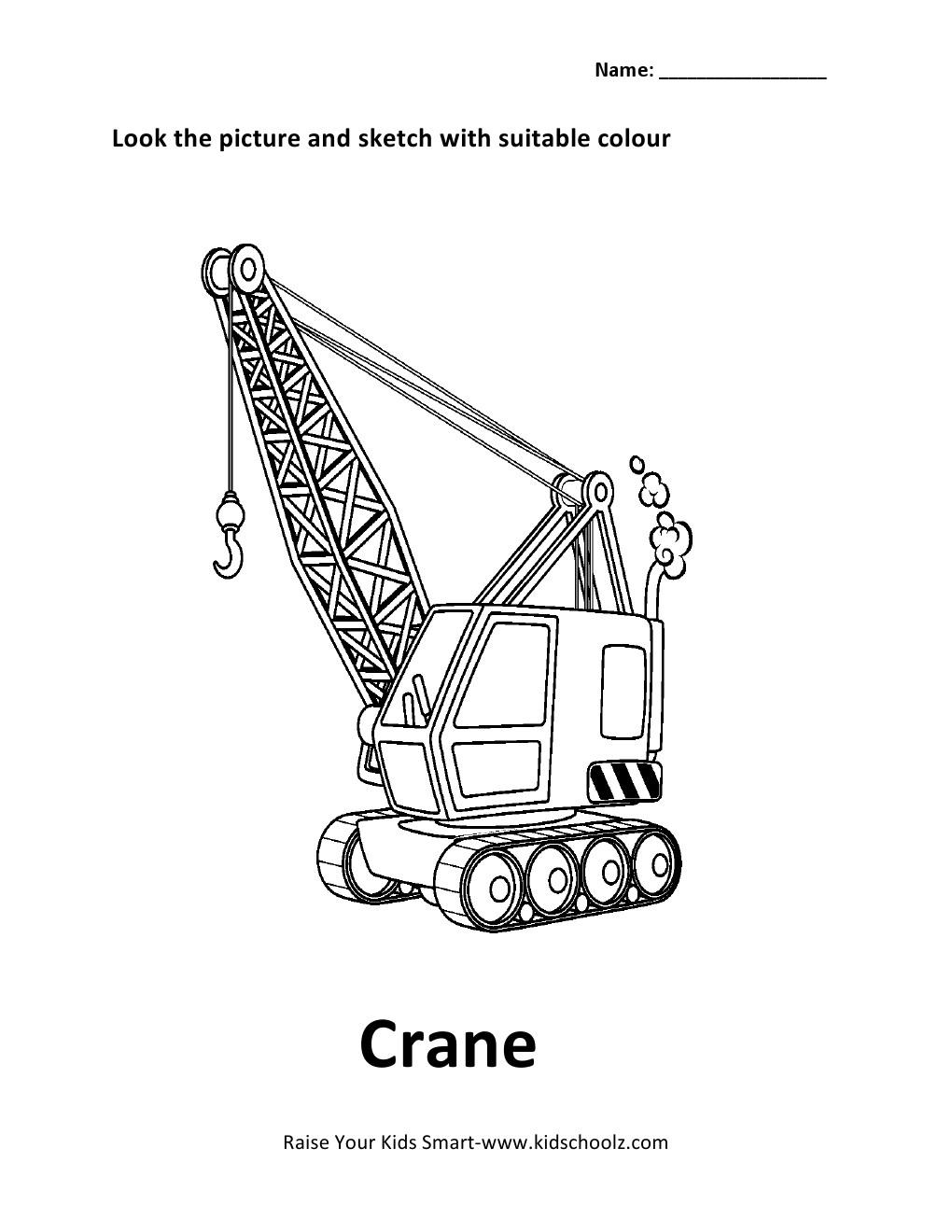 cranky crane coloring pages - photo#7