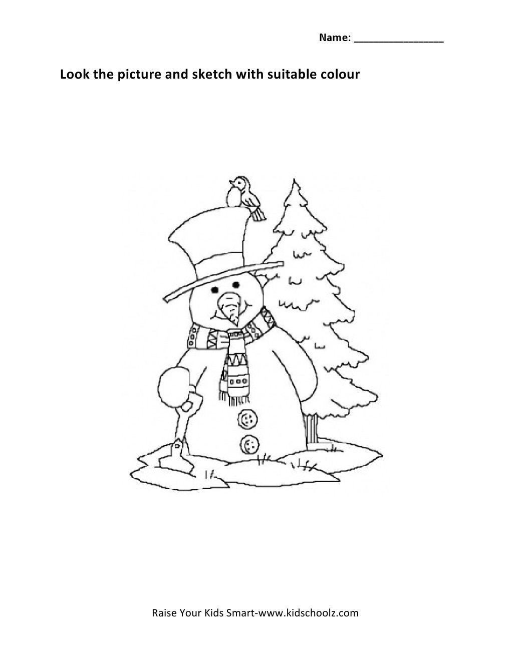 Colouring sheets for lkg - Colouring Worksheets For Lkg Christmas Colouring Worksheet Kidschoolzkidschoolz