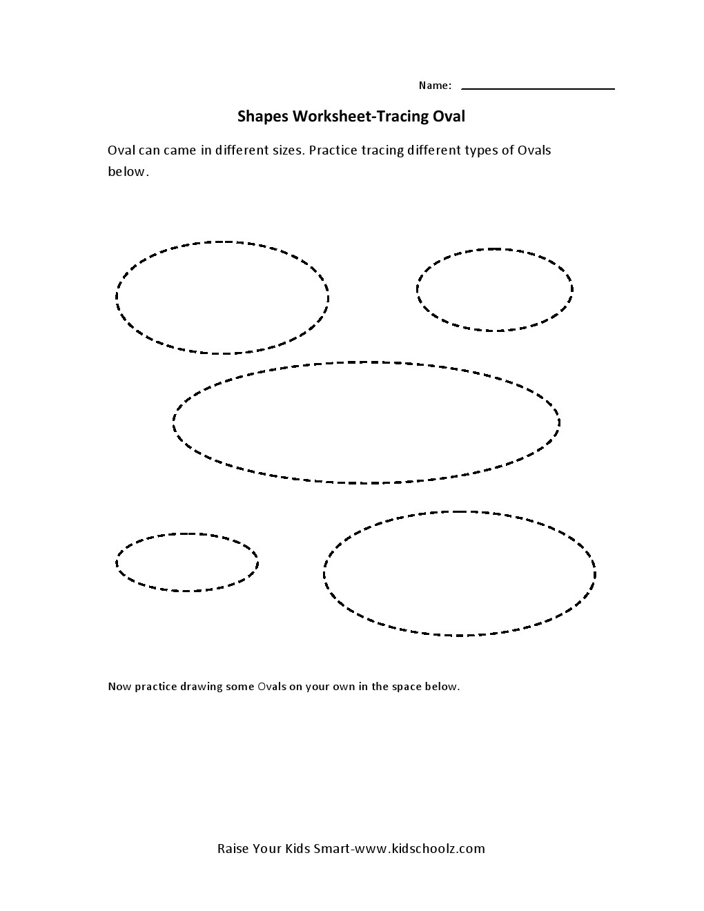 tracing worksheets oval kidschoolz. Black Bedroom Furniture Sets. Home Design Ideas
