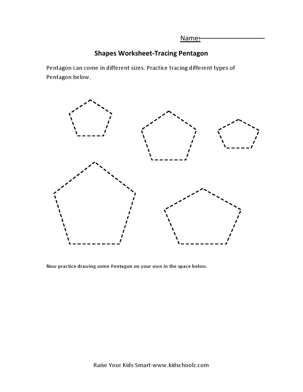 Preschool pentagon worksheets preschool best free for Pentagon coloring page