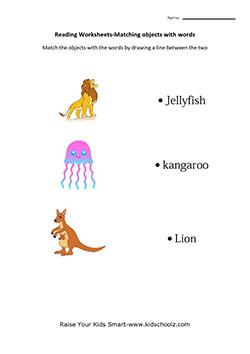 UKG Kids Matching Object Worksheets -