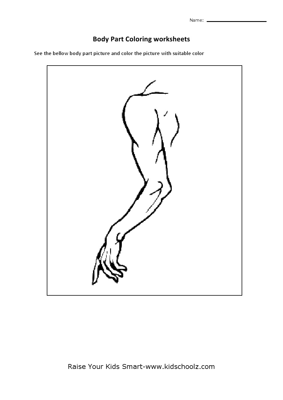 human body parts coloring pages for kids