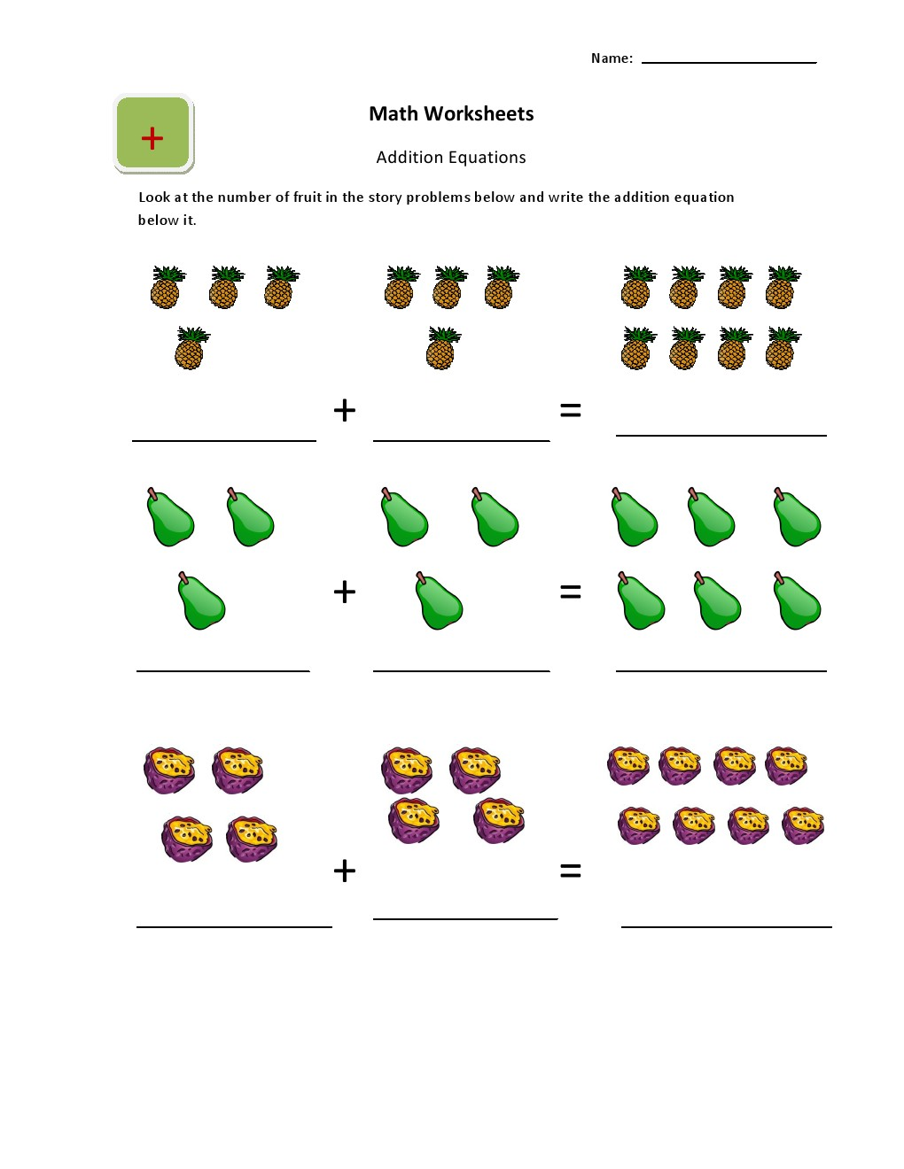 Geography Blog: Math - Addition Worksheets