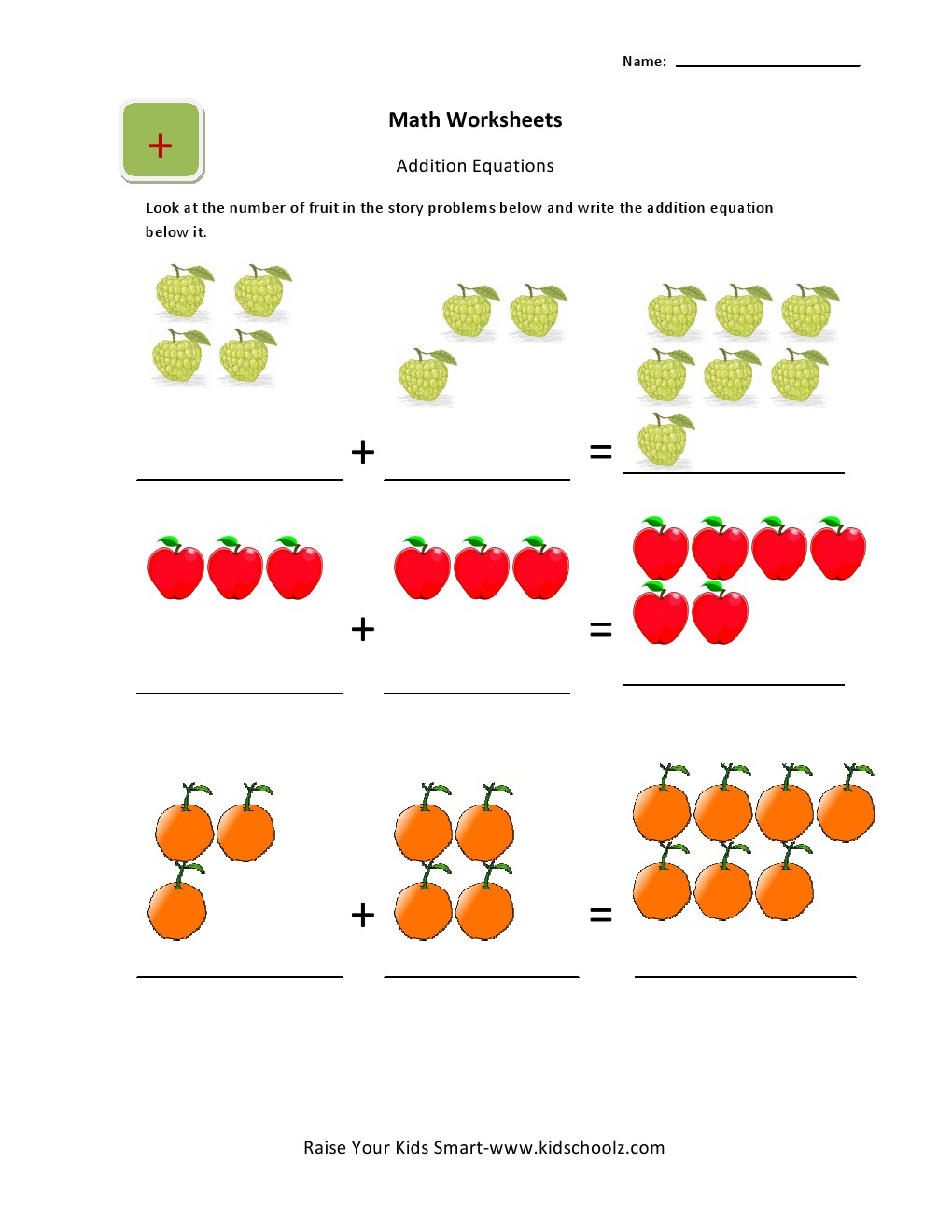 UKG Math Addition Worksheets for Kids – Ukg Maths Worksheets