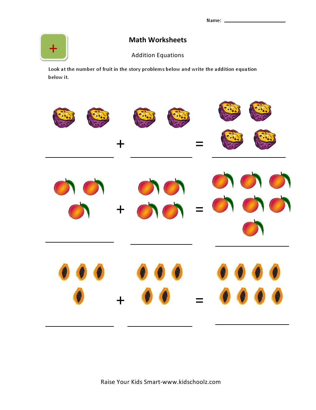 Addition Activities Worksheets For UKG Kids -