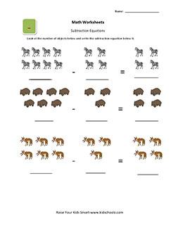 math worksheet : ukg simple subtraction worksheets for kids  : Ukg Maths Worksheets