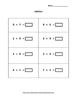 horizontal addition worksheets with pictures grade 1 single digit horizontal addition. Black Bedroom Furniture Sets. Home Design Ideas