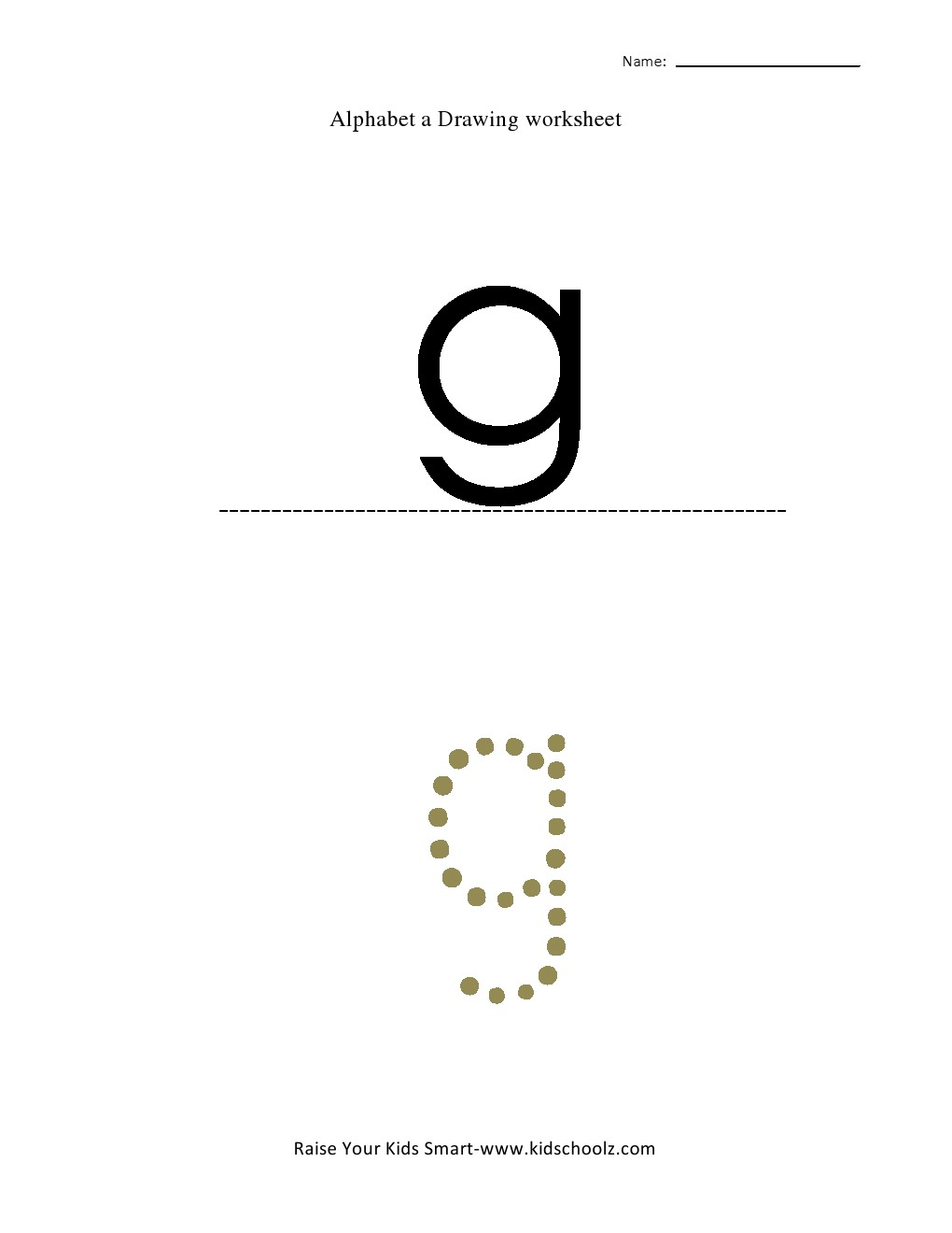 Tracing Small Letter Alphabets G Kidschoolz