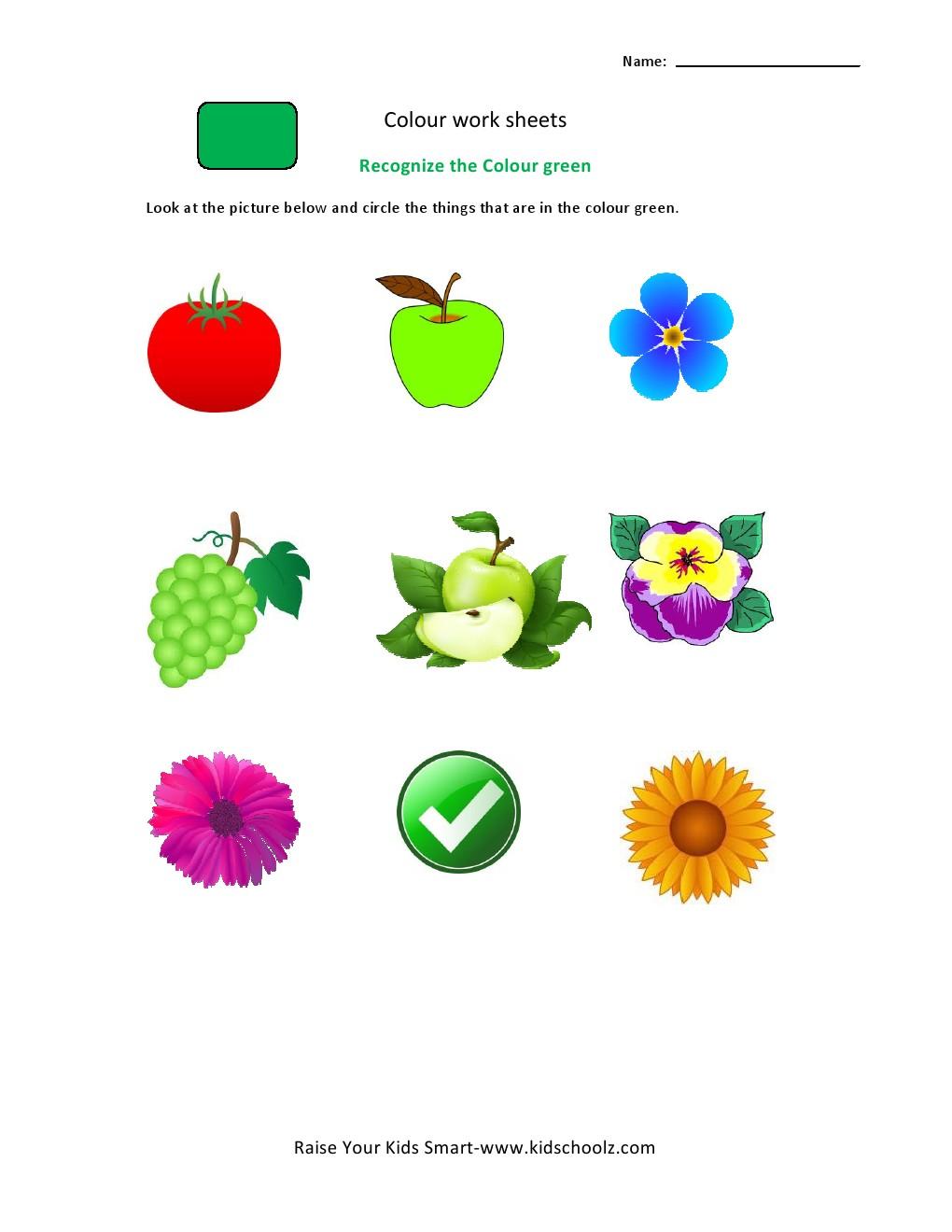 worksheet Color Recognition Worksheets Luizah Worksheet And – Color Recognition Worksheets