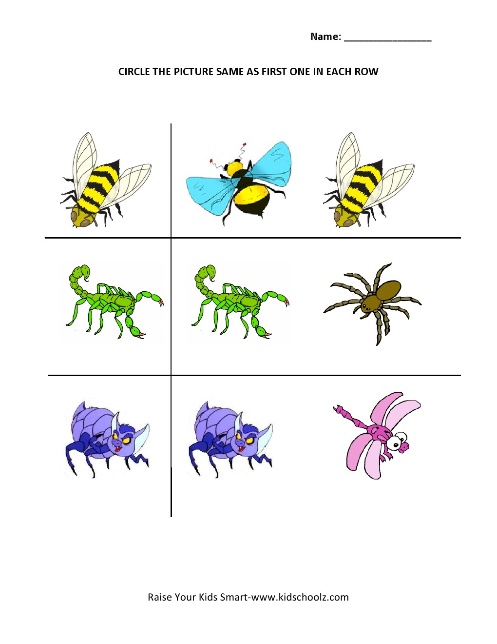 Insects Worksheets For Kindergarten Davezan – Insects Worksheets for Kindergarten