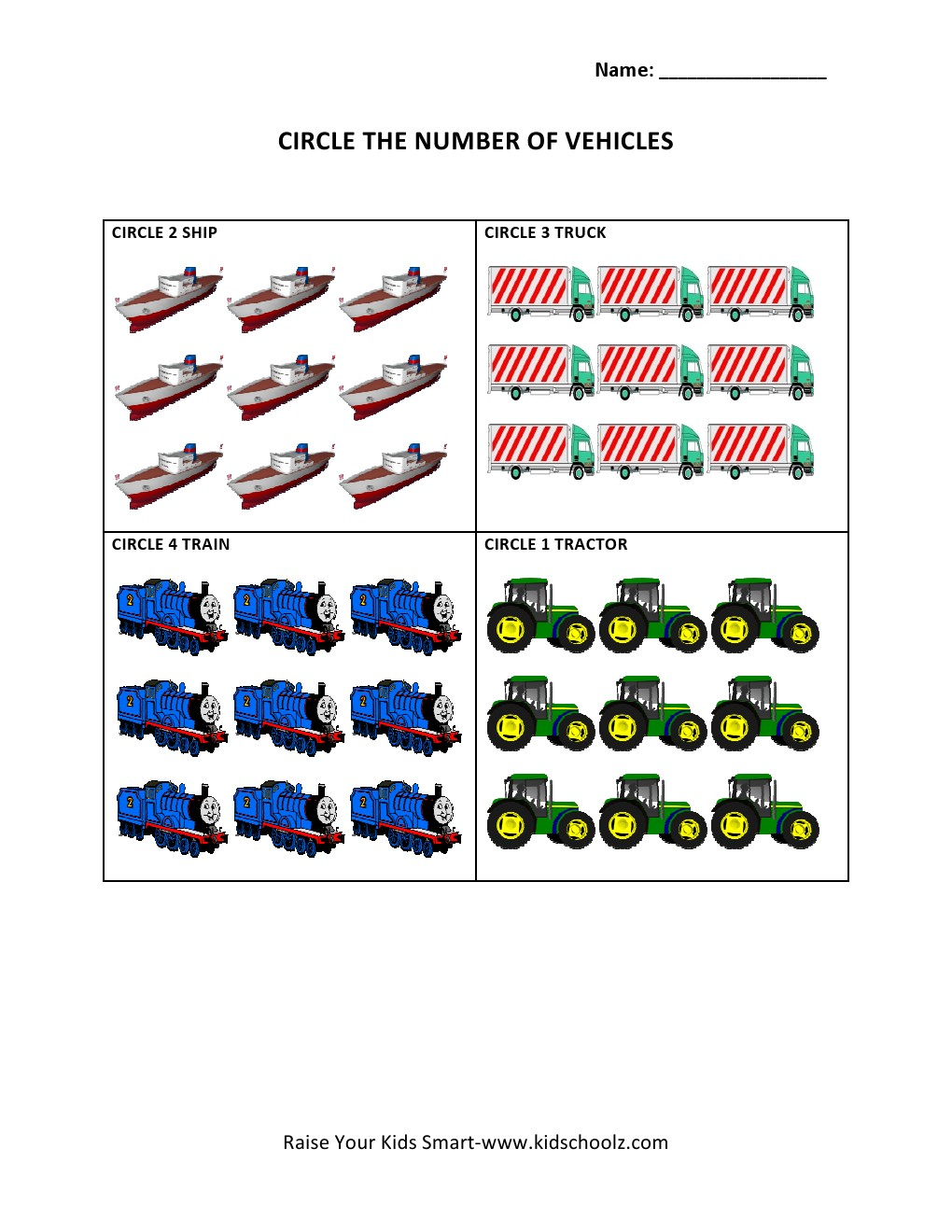 Ericle Activities For Kindergarten Car Pictures - Car Canyon