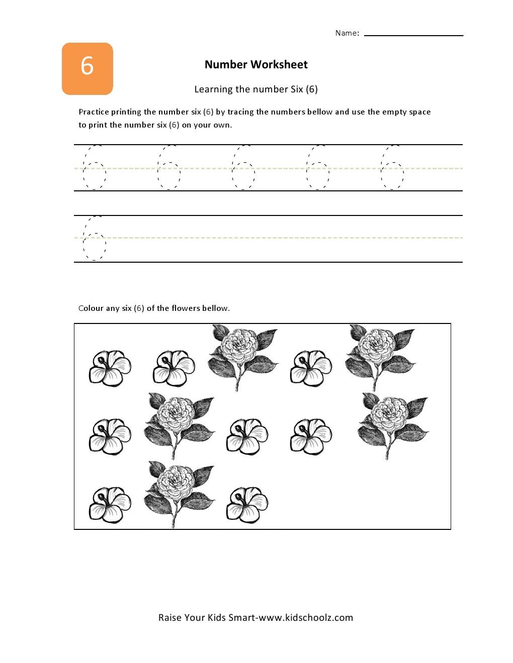 number 6 tracing sheet coloring pages. Black Bedroom Furniture Sets. Home Design Ideas