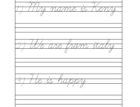 Worksheets Cursive Writing Grade 2 grade 1 cursive writing worksheets archives kidschoolzkidschoolz sentences worksheet 2