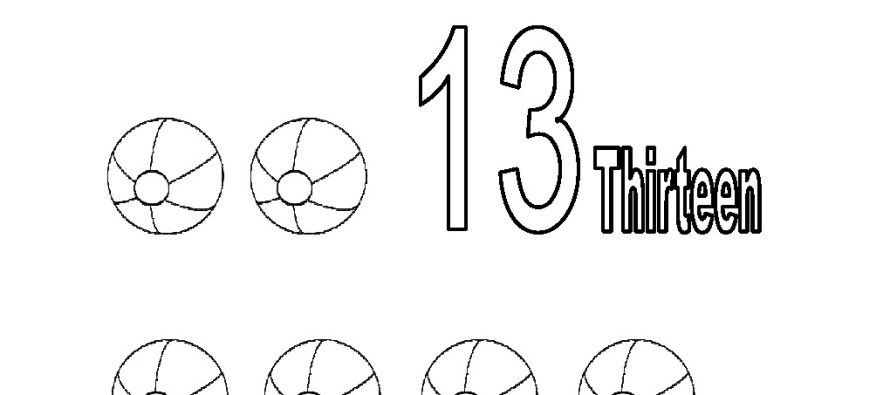 Numero 13 Para Colorear: Coloring Pages For Familly And Kids