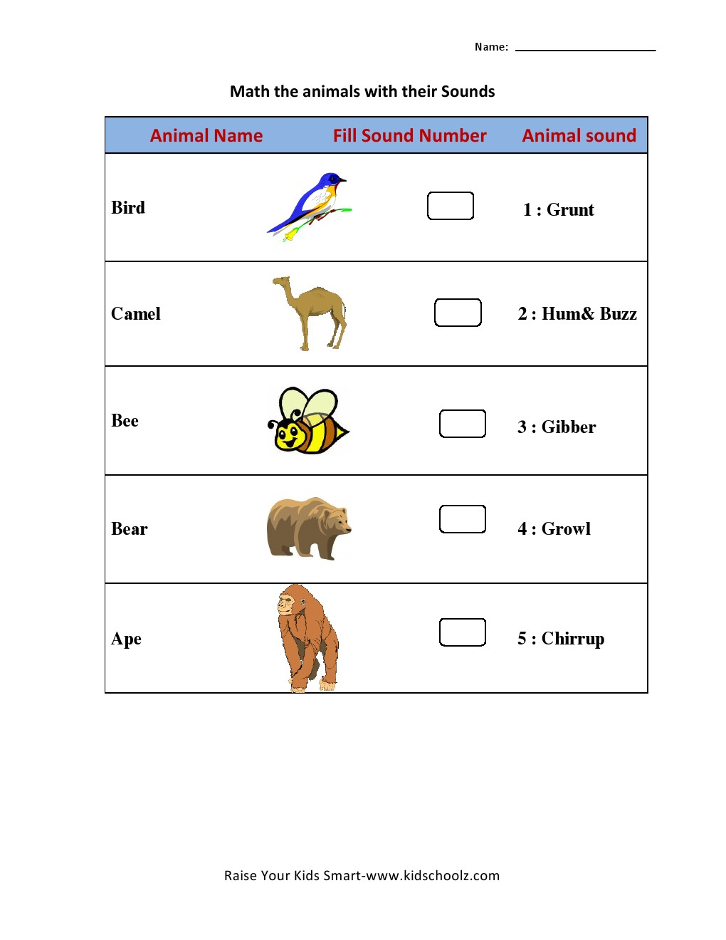 Workbooks lkg writing worksheets : Animal Sound Matching Worksheets - Kidschoolz