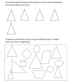 Learning Shapes Worksheets Archives - KidschoolzKidschoolz