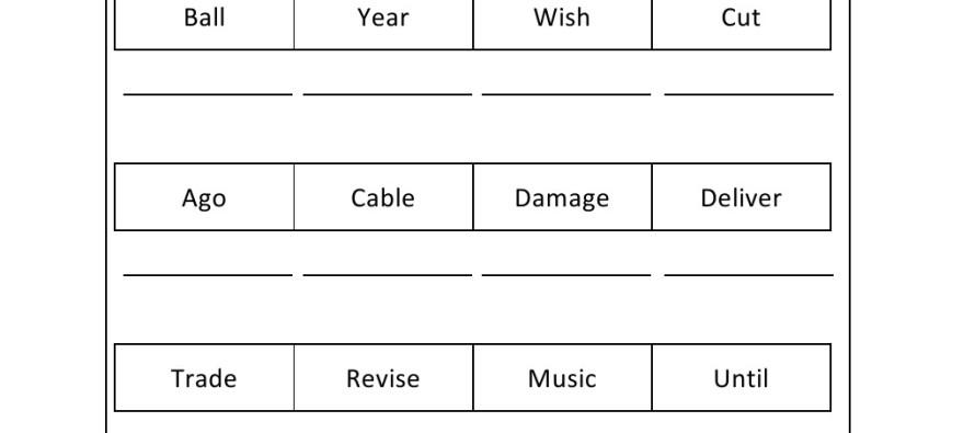 Grade 1 - Alphabetical Order Worksheet 5 -