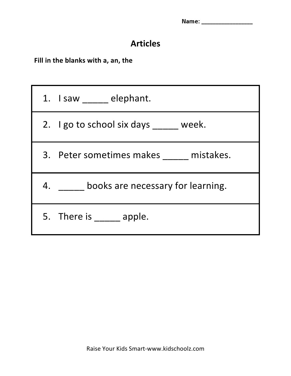 Worksheet A Or An Worksheets worksheet a or an worksheets mikyu free article for grade 1 intrepidpath 2 articles