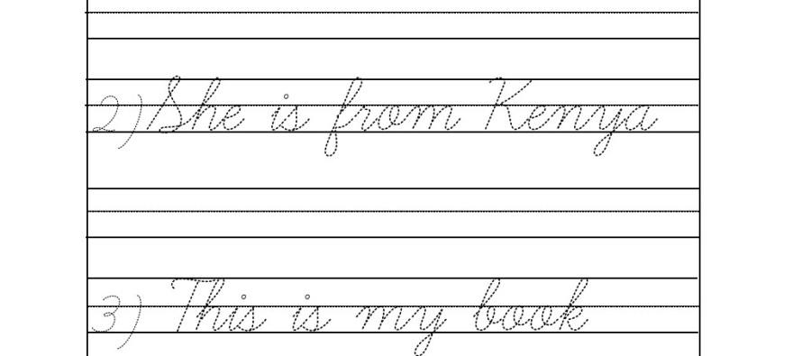 Number Names Worksheets : cursive handwriting worksheets for kids ...