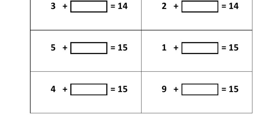 Worksheet #11311600: Addition Missing Number Worksheets – Kidz ...