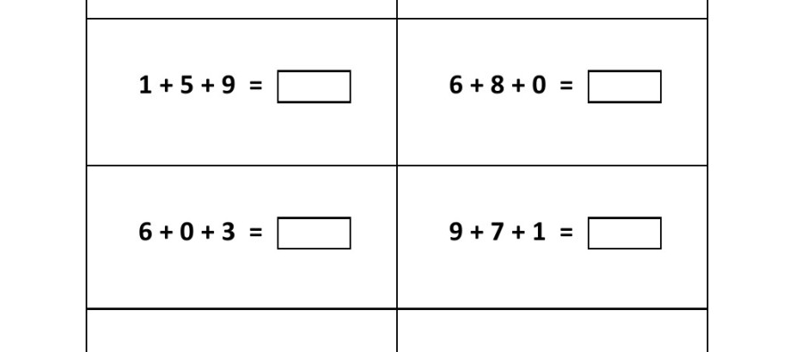 Addition Worksheets : three number addition worksheets ~ Free ...