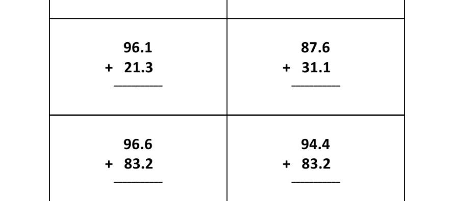 Addition Worksheets : addition worksheets decimals ~ Free ...
