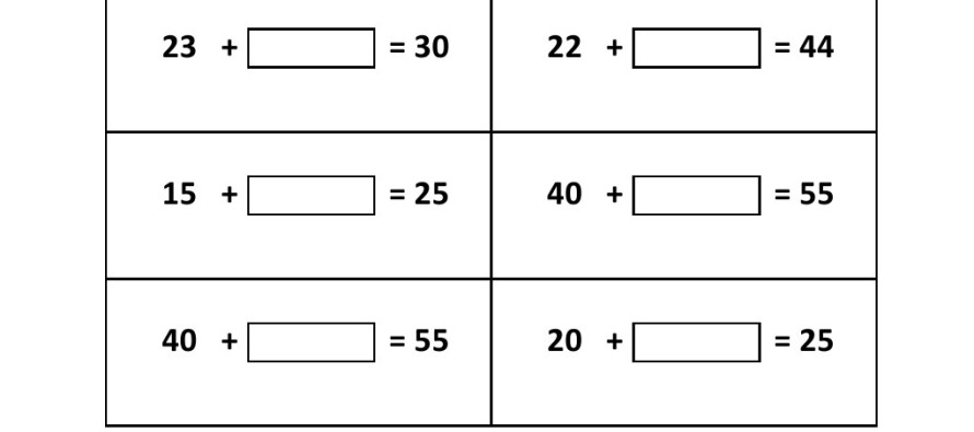 Number Names Worksheets missing number worksheets Free – Missing Number Addition Worksheet