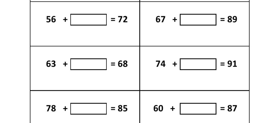 Missing Number Worksheets Addition And Subtraction - Intrepidpath