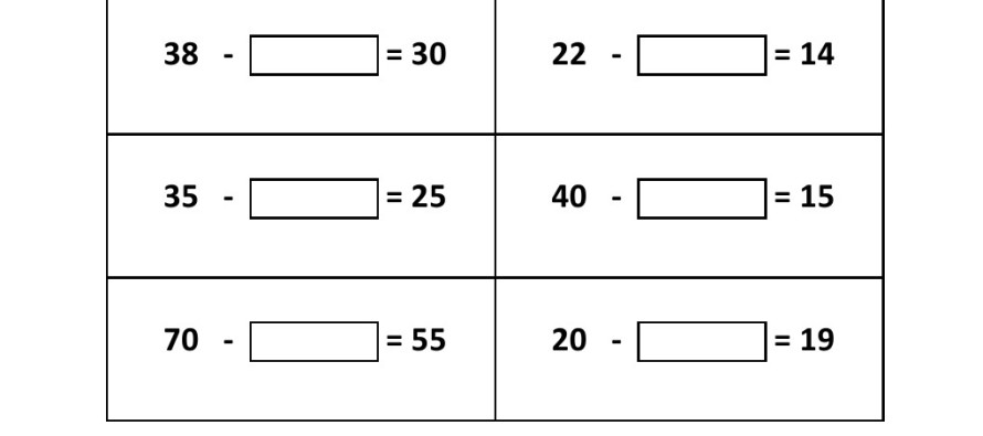 Subtraction Worksheets subtraction worksheets with missing – Missing Numbers in Addition and Subtraction Worksheets