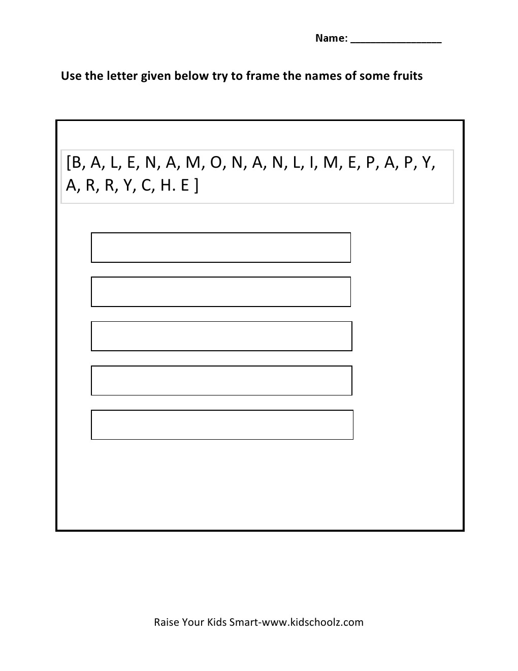 Grade 3 Worksheet