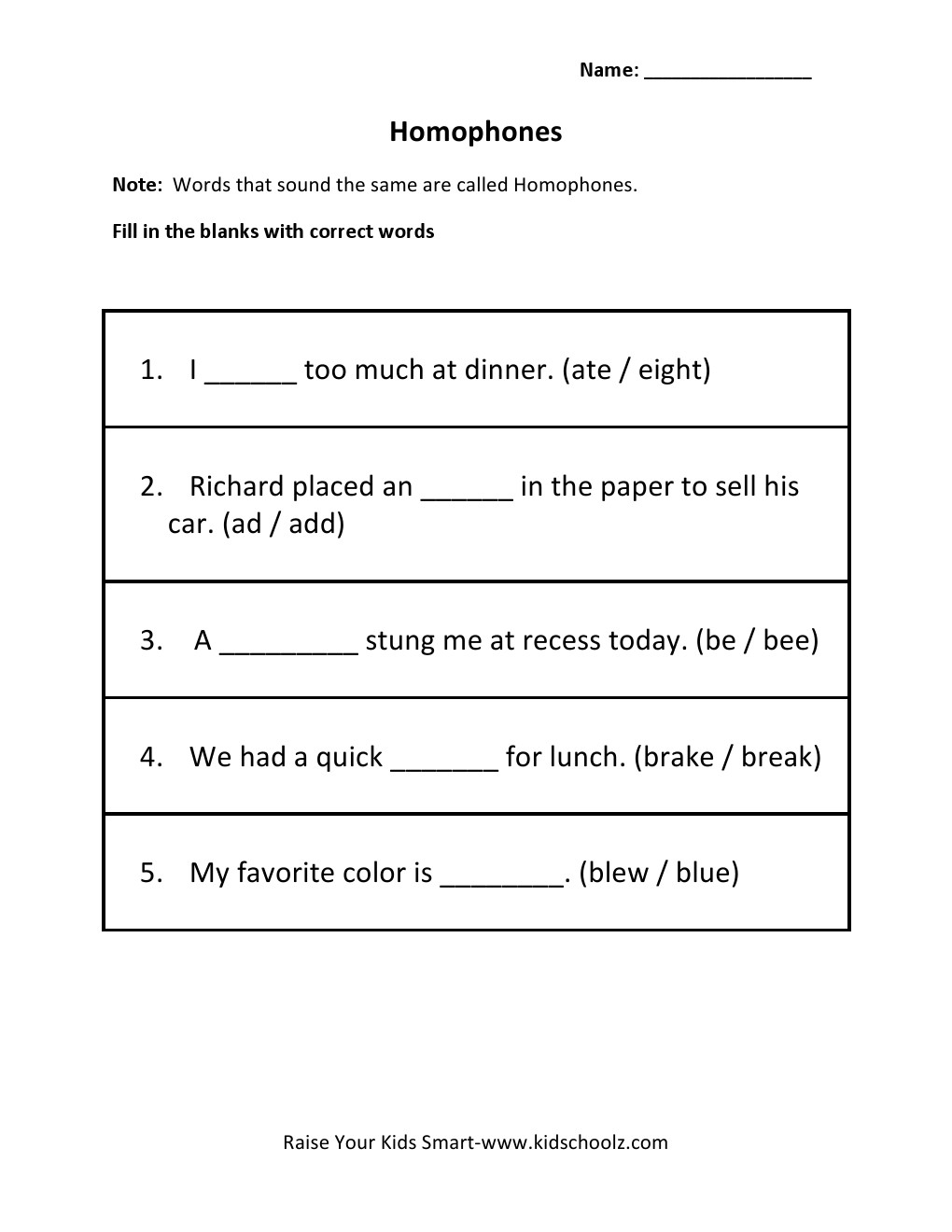 Workbooks homonyms worksheets middle school : Worksheets. Homophones Worksheets. eihseba.com Free Worksheets for ...