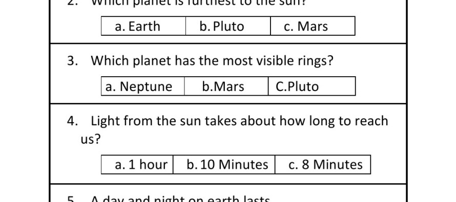 grade solar system questions - photo #15