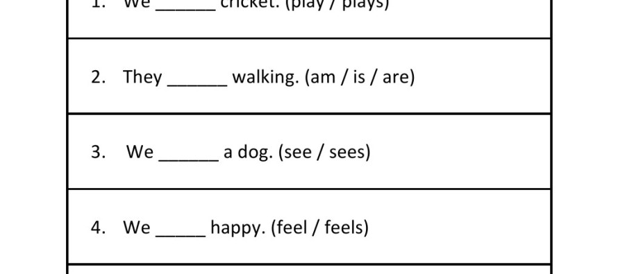 Grade 3 Subject and Verb Agreement Worksheet 5 – Subject Verb Agreement Worksheets