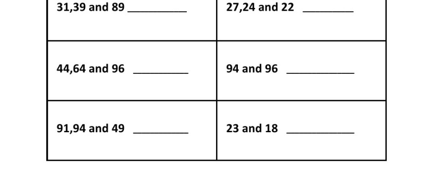 Free Math Worksheets Gcf Lcm – Least Common Multiples Worksheets