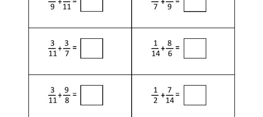 math worksheet : grade 4  fraction addition worksheet 3  : Grade 4 Addition Worksheets