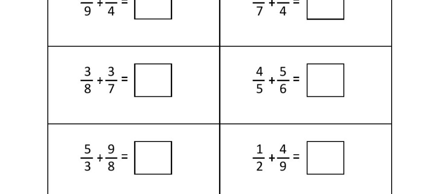 Add Fraction Worksheet fractions addition worksheet 1fractions – Fraction Subtraction Worksheet