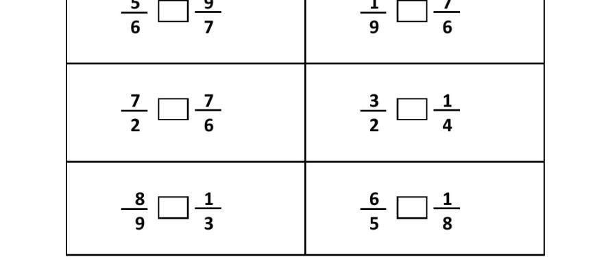 Number Names Worksheets comparing fractions worksheet with pictures : Grade 4 - Comparing Fraction Worksheet 4 -