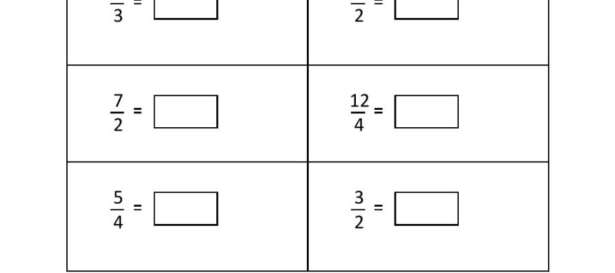 Grade 4 Convert Improper Fraction To Mixed Fraction Worksheet 3 – Improper Fraction Worksheets