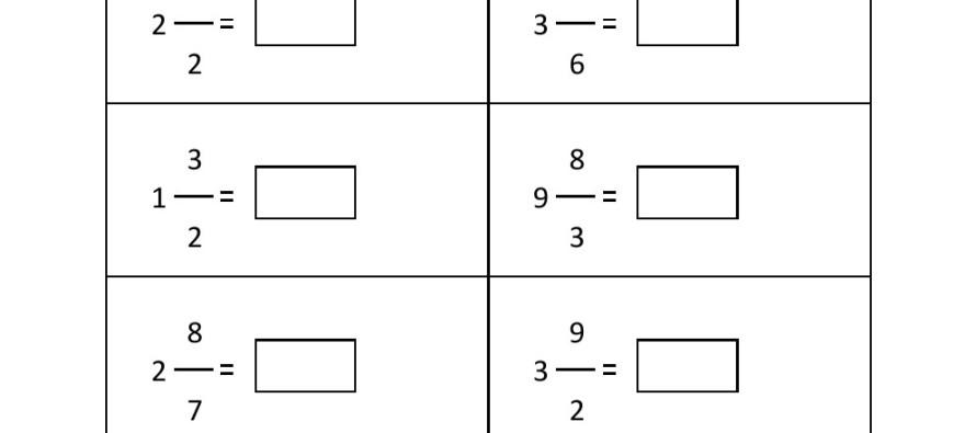 Grade 4 Convert Mixed Fraction To Improper Fraction Worksheet 3 – Fractions Worksheet for Grade 4