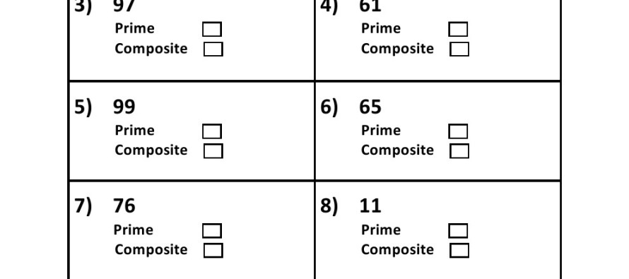 And Composite Numbers Worksheet - Delibertad
