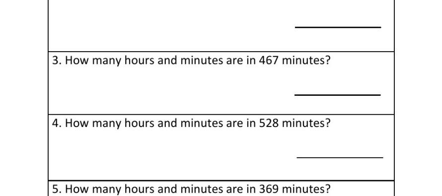 Grade 4 - Time Worksheet 4 -