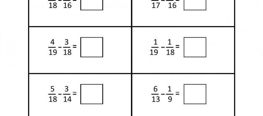 math worksheet : grade 5  fraction subtraction worksheet 2  : Grade 5 Subtraction Worksheets