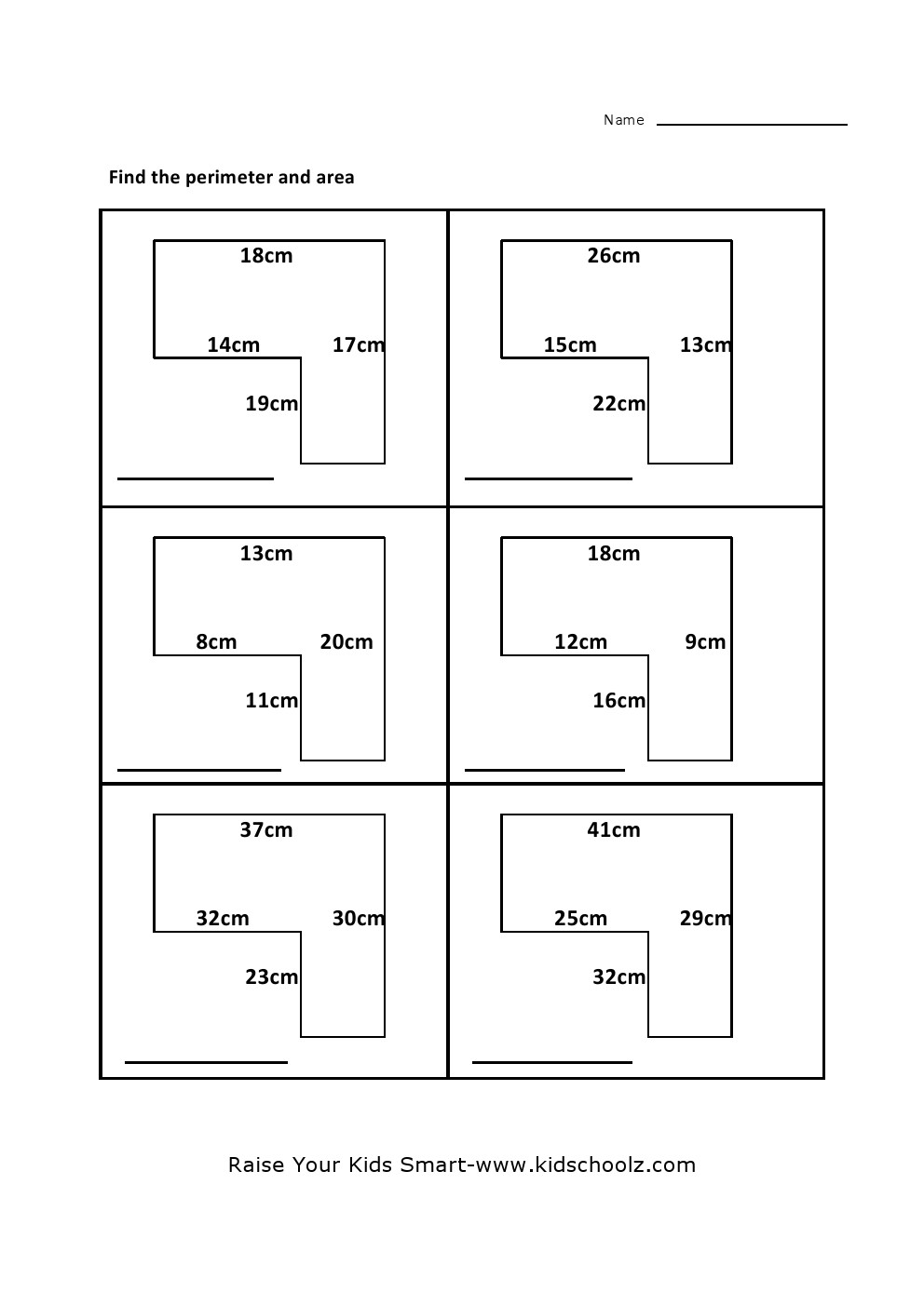 Nice Worksheet Maths Area And Perimeter Worksheets Th Grade Ideas