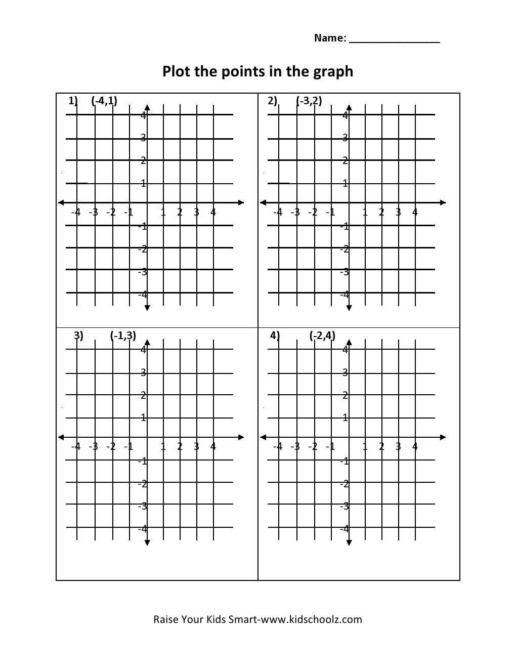 worksheet Plotting Points Worksheets grade 5 plot points worksheet kidschoolz worksheet