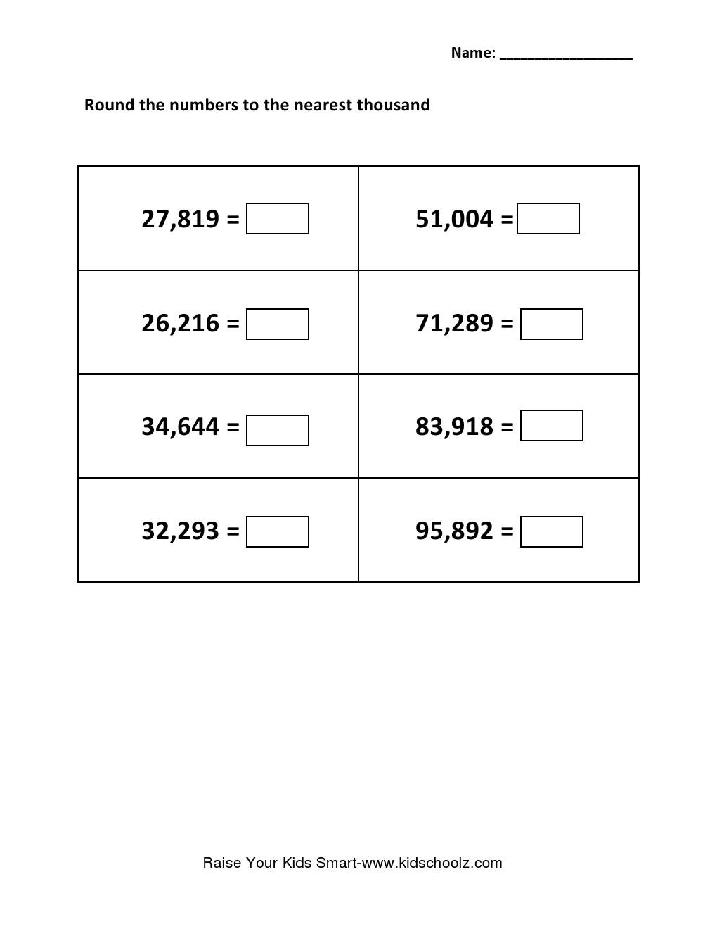 Worksheet Rounding Off Numbers Worksheets Grade 4 grade 5 rounding integer number worksheet worksheet