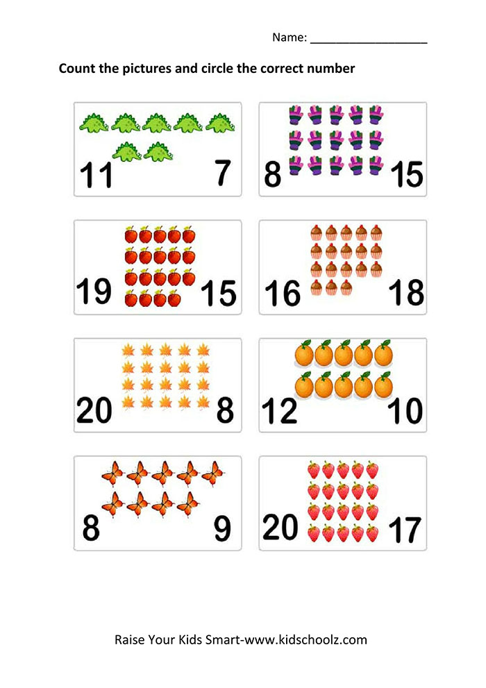 Counting Worksheets Kidschoolz. Counting Worksheets Circle The Numbers. Worksheet. Counting Worksheets At Mspartners.co